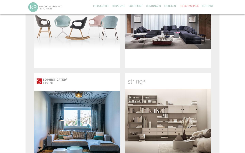 KB Raumgestaltung - Umsetzung der Webseite