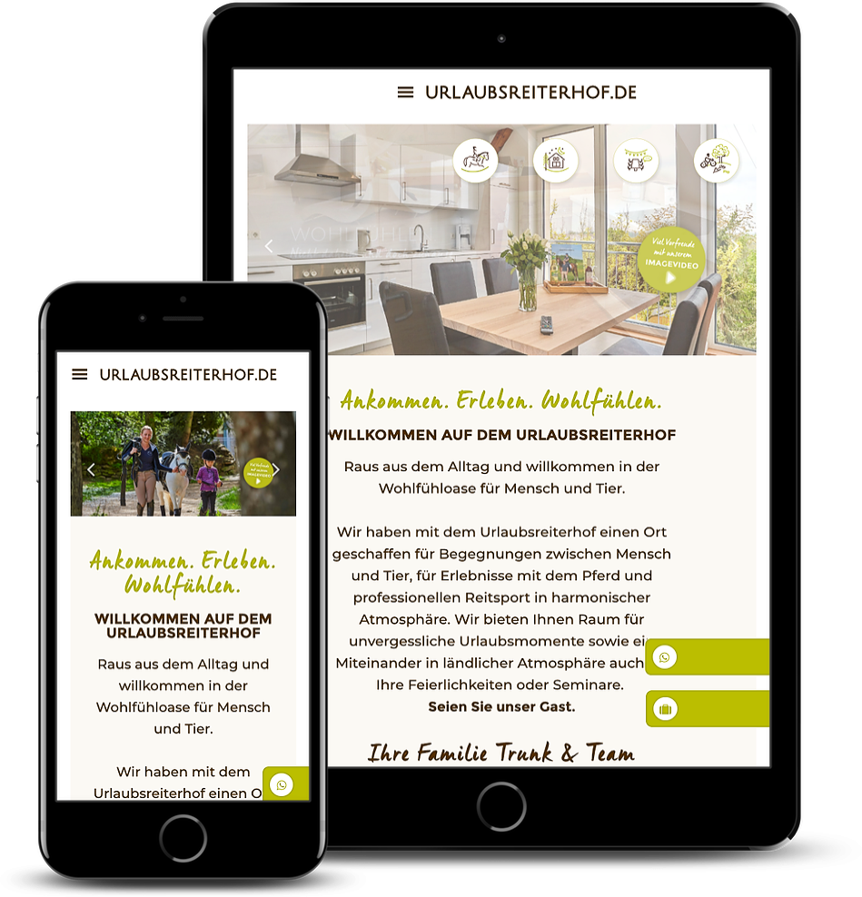 Wordpress Elementor Webseite: Urlaubsreiterhof