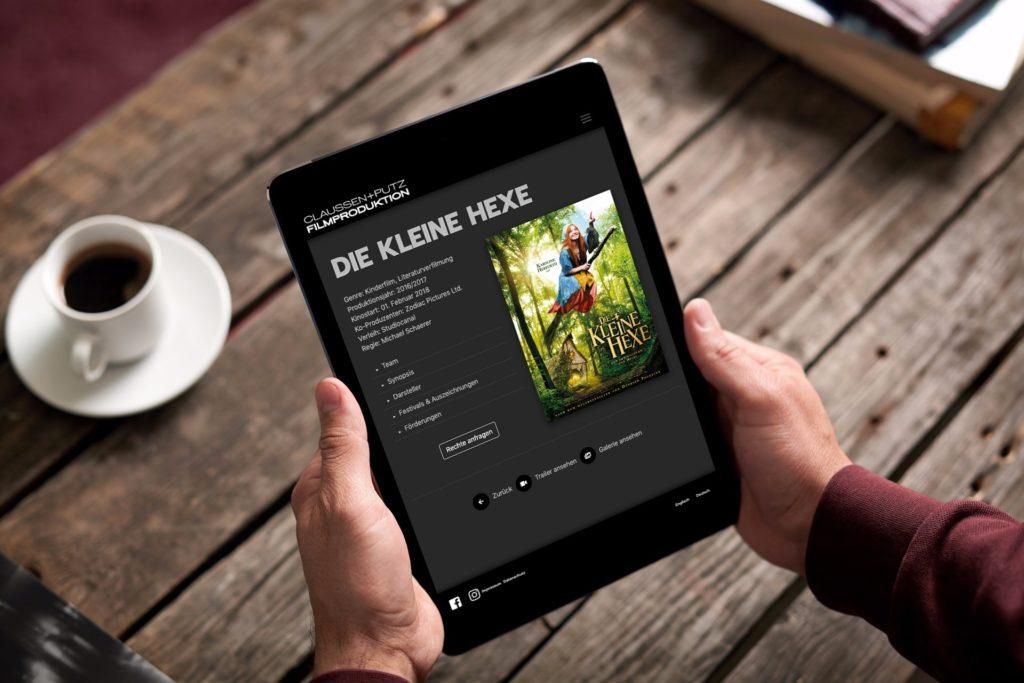 internetseite claussen-putz-tablet