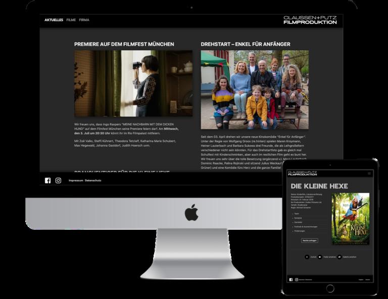 Internetseite Claussen Putz Filmproduktion