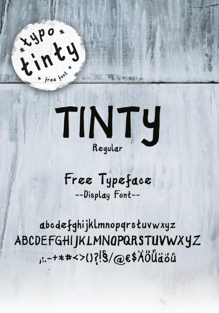 Tinty - freie Display Schrift Entwicklung