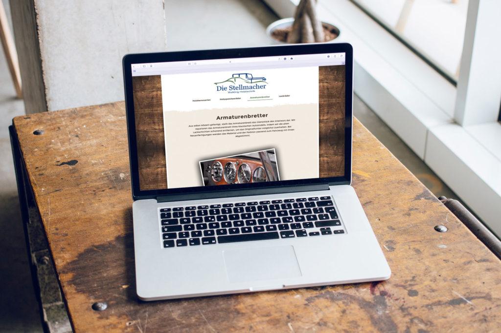 responsive Webseite diestellmacher.de Laptop Ansicht