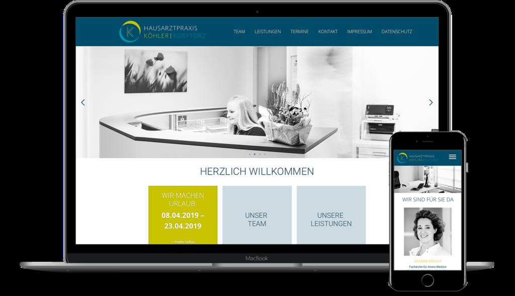 Webseite für Arztpraxis: Hausarztpraxis Köhler, Kosytorz, Lübeck