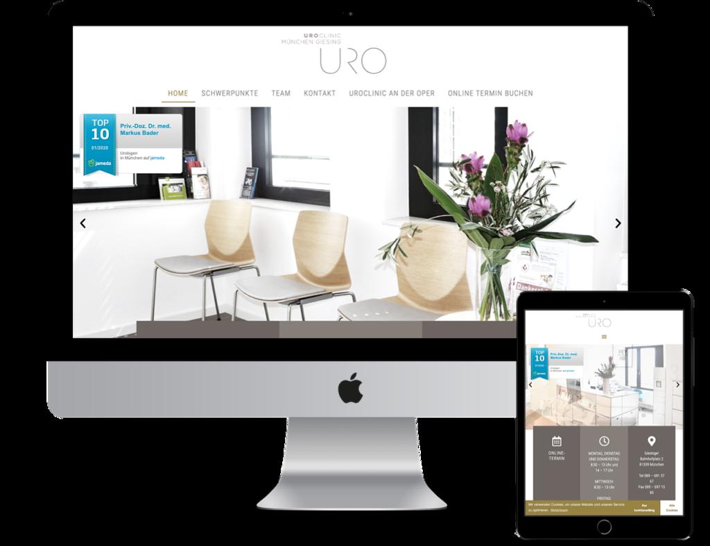 Webseite Urologie Giesing