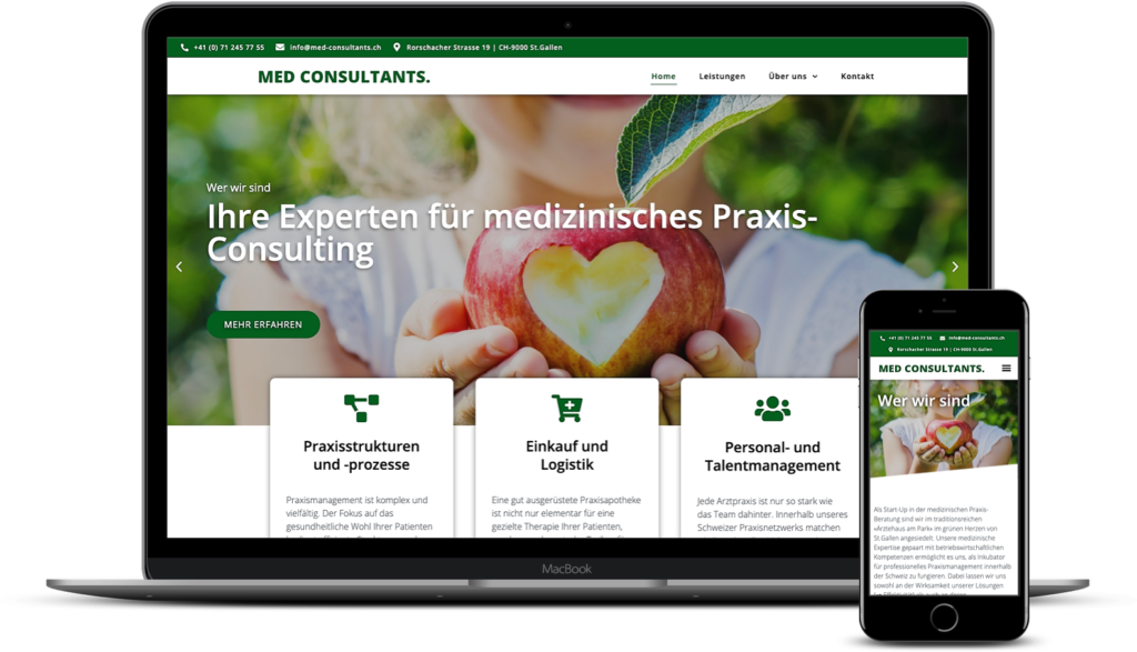 Wordpress CMS Webseite MED CONSULTANTS.