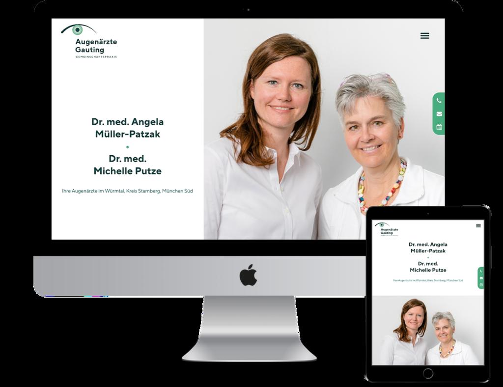 Webseiten für Ärzte - Augenarzt Gauting