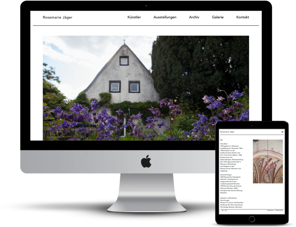 Responsive CMS Galerie Webseite