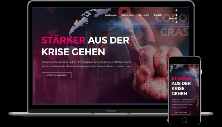 PR Werbeagentur Webseite TRAUT PR