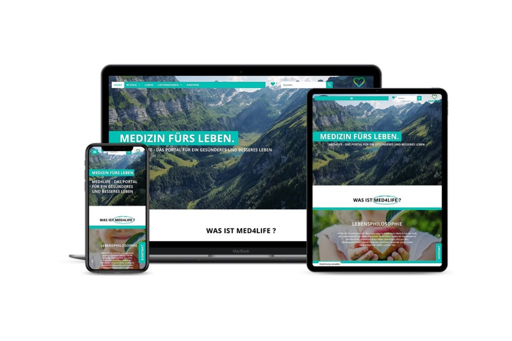 Responsive Elementor Webseite MED4LIFE